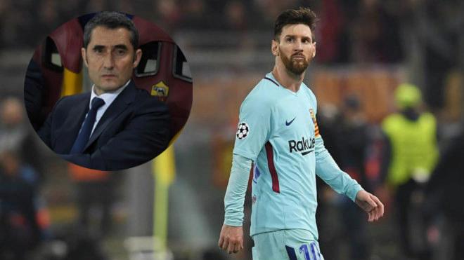 """Barca bị loại khỏi cúp C1: Valverde """"nhận tội"""" thay Messi, nguy cơ bị sa thải - 1"""