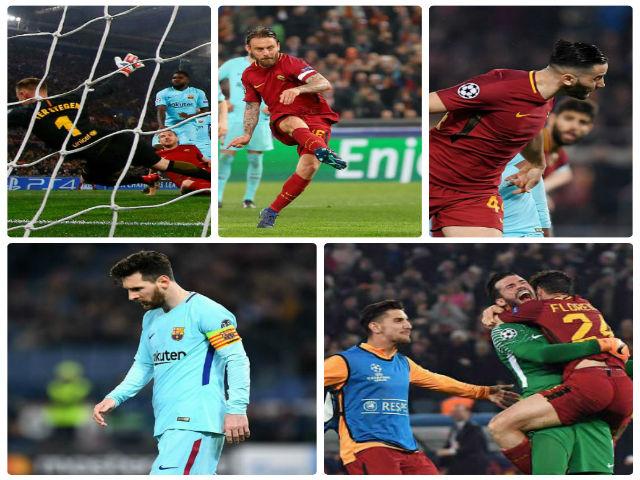 """Roma """"hủy diệt"""" Barca cúp C1: Thăng hoa tột đỉnh, chôn vùi Messi"""