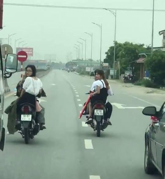 Lộ mặt nhóm thanh niên dàn hàng ngang để rước dâu trên quốc lộ - 1