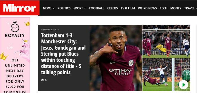 Báo chí thế giới vững tin MU cản Man City lên ngôi Ngoại hạng Anh thêm 1 vòng - 1