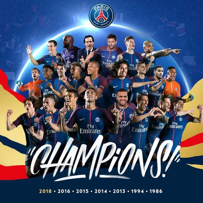 """PSG vô địch Ligue 1: Cán mốc kỷ lục, Emery vẫn """"ngồi trên đống lửa"""" - 1"""