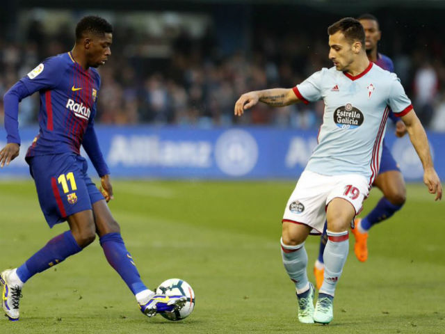 """Video, kết quả bóng đá Celta Vigo - Barcelona: """"Bom tấn"""" lập công, 4 bàn rượt đuổi"""