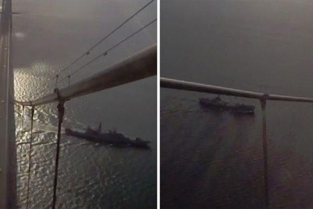 """Cận cảnh tàu chiến Nga đi qua trước """"mũi"""" Anh đến Syria - 1"""