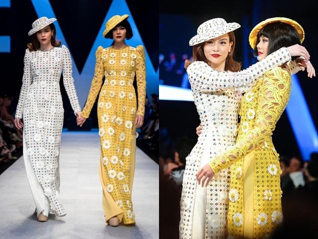Hà Hồ và Thanh Hằng dắt tay nhau, cùng làm nàng thơ cho show Công Trí