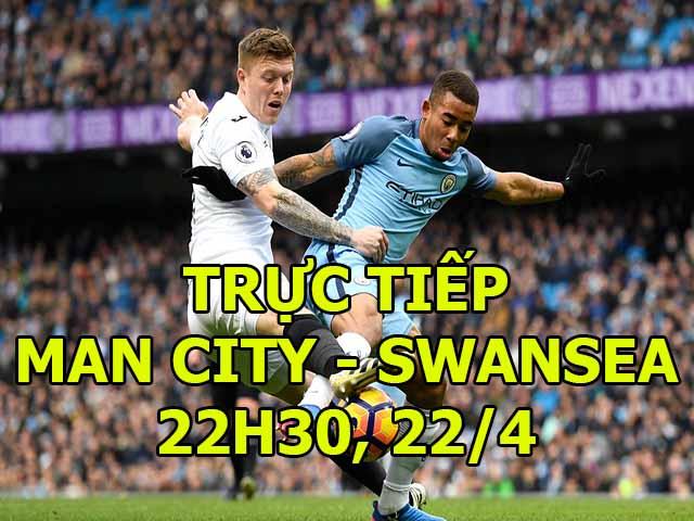 TRỰC TIẾP bóng đá Man City - Swansea: Tân vương phô diễn sức mạnh