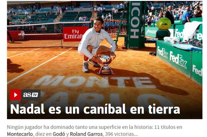 """Nadal vô địch tuyệt đối Monte Carlo: Báo chí gọi là """"khủng long bạo chúa"""" - 1"""