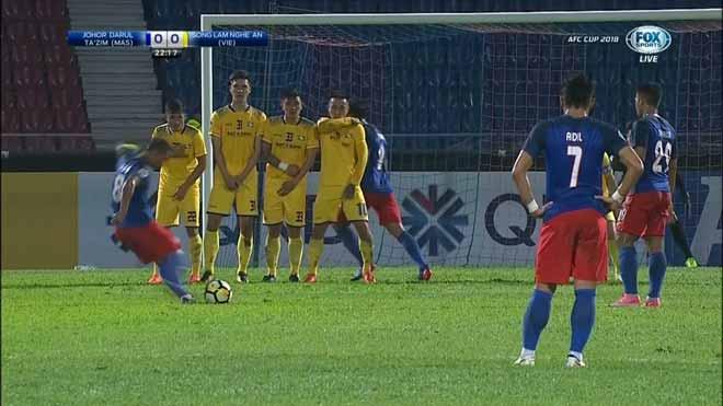 Johor Darul - SLNA: 10 phút 4 bàn, định mệnh ngoài tầm tay - 1