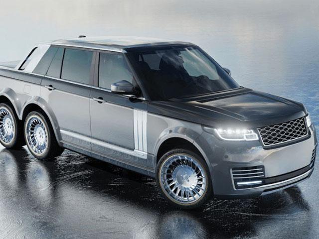 """SUV siêu sang Range Rover hoá thân thành """"bán tải sáu bánh"""""""