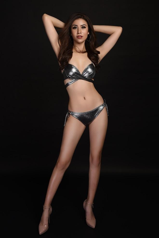 Á hậu 1 Hoa hậu Biển ngồi xổm mỗi ngày 100 cái để có thân hình đẹp - 1