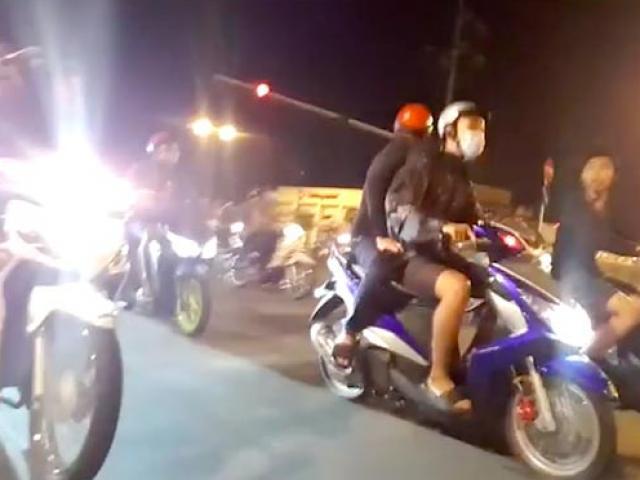 """VIDEO: Quái xế """"bão đêm"""" náo động khu Hàng Xanh"""