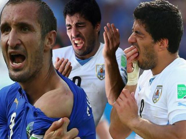 """Khoảnh khắc điên rồ World Cup: Suarez """"hóa ác quỷ"""" cắn trộm Chiellini"""