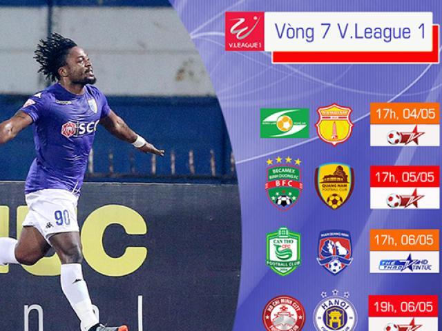 """Vòng 7 V-League: """"Súng lên nòng"""", siêu tiền đạo Oseni nên duyên?"""