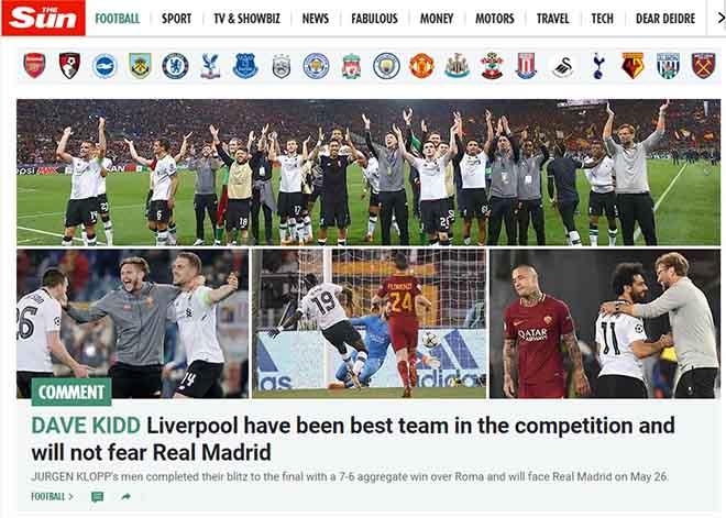 """Liverpool hẹn đấu Real - Ronaldo: Báo Anh """"nổ"""" mạnh nhất thế giới, đe dọa """"Kền kền"""" - 1"""