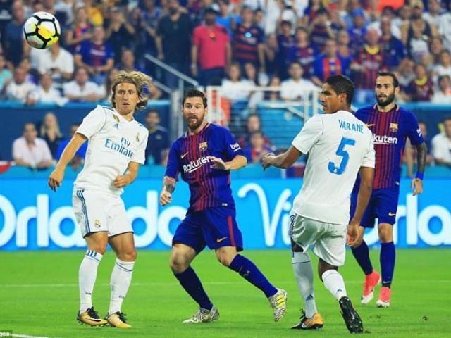 Siêu kinh điển: Messi tập ngả bàn đèn chất như Ronaldo, dọa xé lưới Real