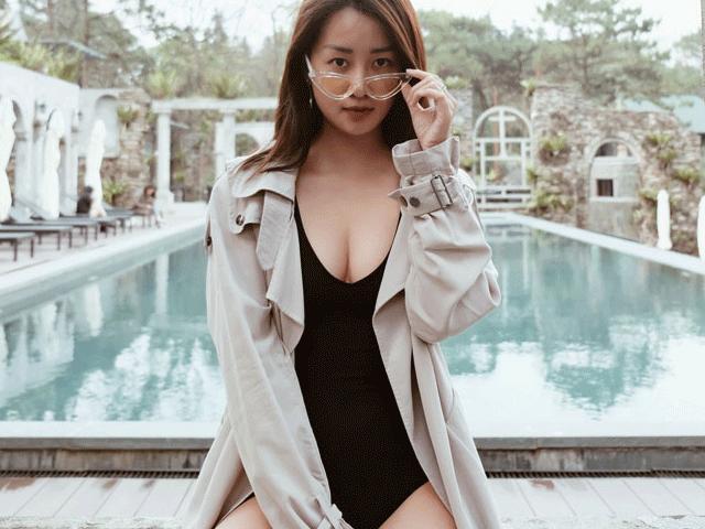 MC Quỳnh Chi khoe vẻ sexy với bikini