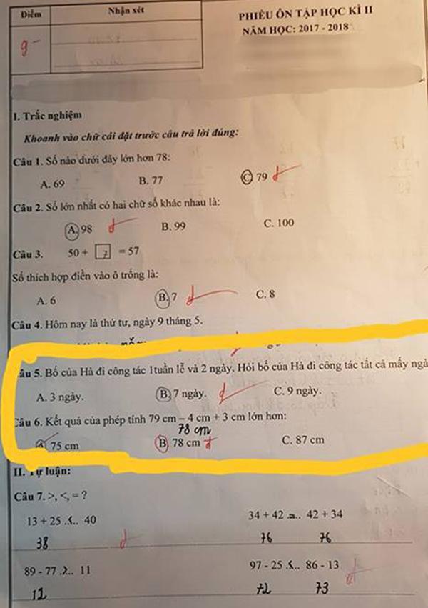 Bài toán lớp 1 khiến ông bố hoang mang phải lên mạng hỏi - 1