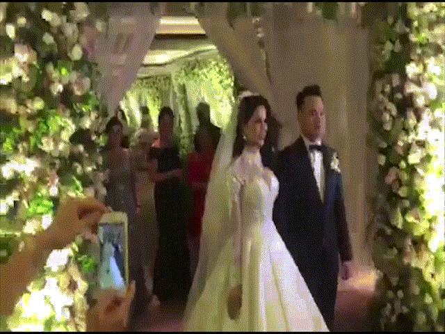 Phóng viên vất vả tác nghiệp ở đám cưới 5 sao của Diệp Lâm Anh và thiếu gia Sài thành