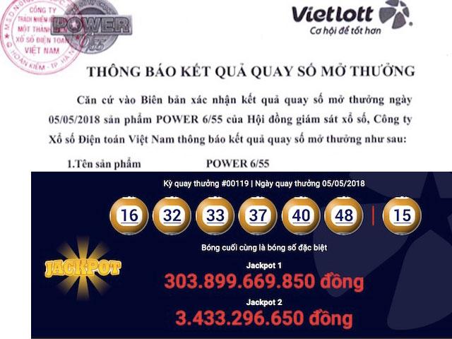Vé Vietlott trúng jackpot hơn 300 tỉ đồng được bán ở đâu?