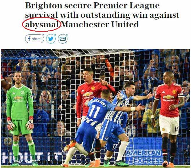 """MU mất mặt trước """"tí hon"""": Báo Anh """"dậy sóng"""" vì thầy trò Mourinho - 1"""