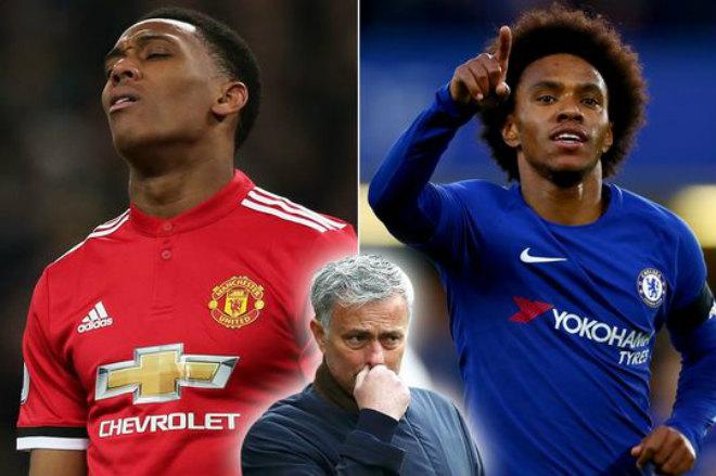 Chuyển nhượng MU: Mourinho gạ Chelsea đổi Martial lấy Willian - 1