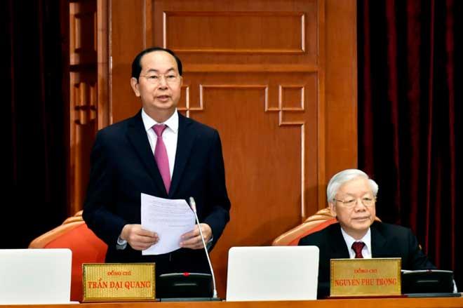 Chủ tịch nước Trần Đại Quang điều hành ngày đầu Hội nghị T.Ư 7 - 1