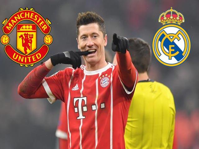 Lewandowski nổi loạn, Bayern chán nản: MU-Real đấu giá 90 triệu euro