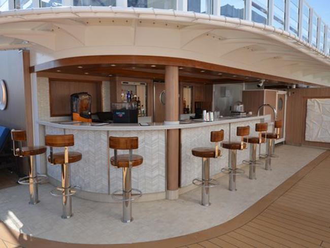Một khu vực tiếp khách khác, được gọi là Vibe Beach Club và chỉ dành cho người lớn. Hành khách phải mua vé ngày để vào