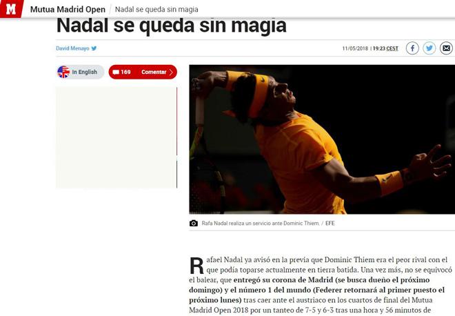 """Nadal mất 2 """"ngai vàng"""": Báo chí TBN chua chát, chê Nhà Vua """"hết phép"""" - 1"""