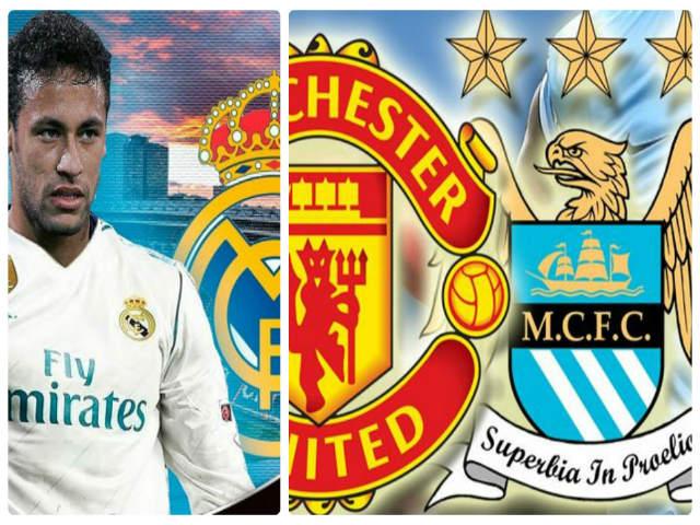 """""""Bom tấn thế kỉ"""" Neymar: PSG bắt tay MU - Man City, """"chơi đểu"""" Real"""
