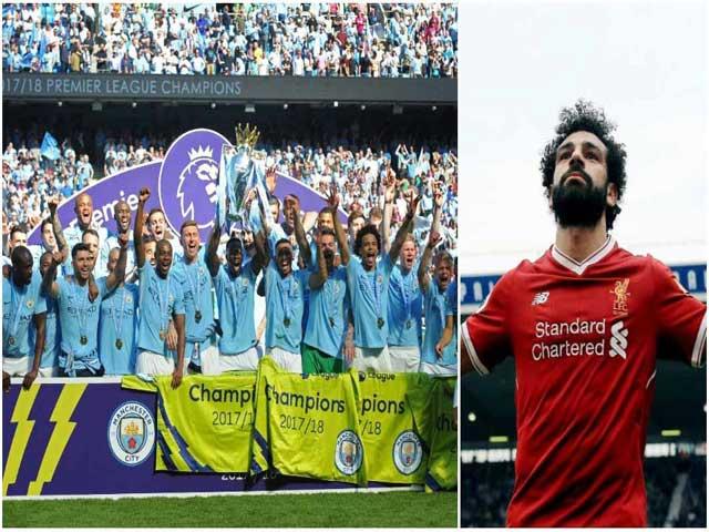 """Kỷ lục Ngoại hạng Anh: """"Vua"""" Man City 100 điểm chói lọi, Salah """"đè"""" Ronaldo"""