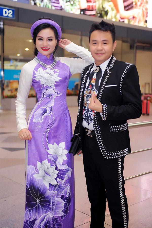 Doanh nhân Huy Hoàng và Nữ hoàng Trần Huyền Nhung trước giờ bay sang Nhật Bản - 1