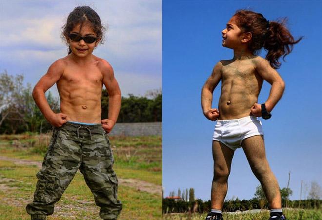 """Siêu sao thể hình 4 tuổi: Bụng 6 múi, leo tường nhanh như """"người nhện"""" - 1"""