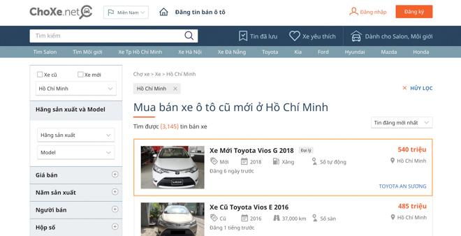 Top 5 trang web mua bán ôtô uy tín nhất Việt Nam năm 2018 - 1