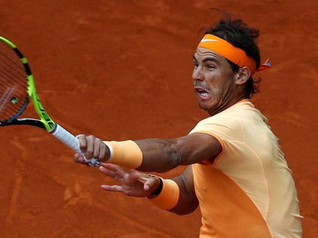 """Video, kết quả tennis Nadal - Dzumhur: """"Ác mộng"""" 2 set kinh hoàng (Vòng 2 Rome Masters)"""