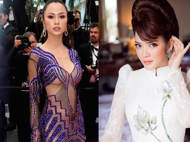 Cannes 2018: Vũ Ngọc Anh dạn dĩ khoe 80% cơ thể, lấn át Lý Nhã Kỳ?
