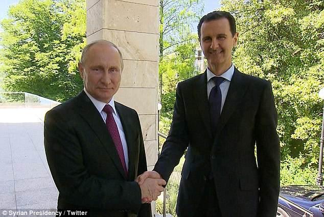 Tổng thống Syria xuất hiện ở Nga, bàn chuyện với Putin - 1