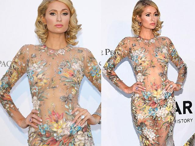 Paris Hilton lộ nhẫn đính hôn 43 tỷ đồng ở tiệc amfAR