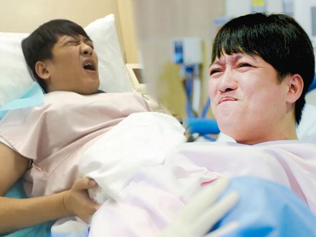 Trường Giang đau đớn tái mặt khi thử mang bầu, sinh con