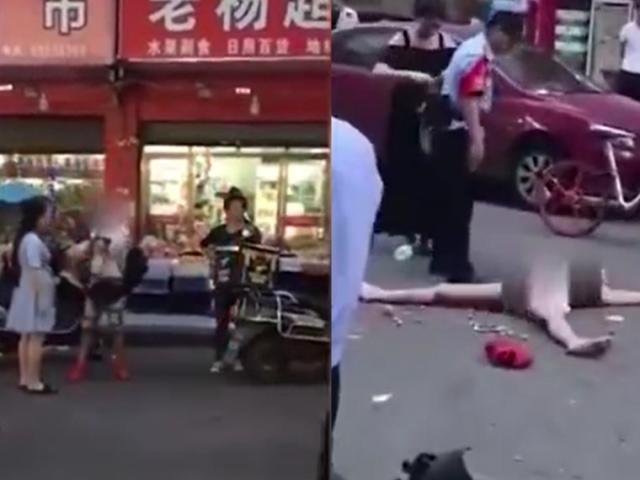 Cô gái TQ tự lột sạch quần áo khi bị phát hiện ăn trộm