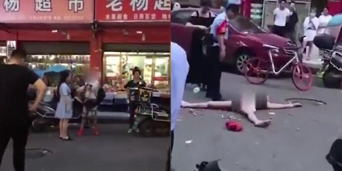 Cô gái TQ tự lột sạch quần áo khi bị phát hiện ăn trộm - 1