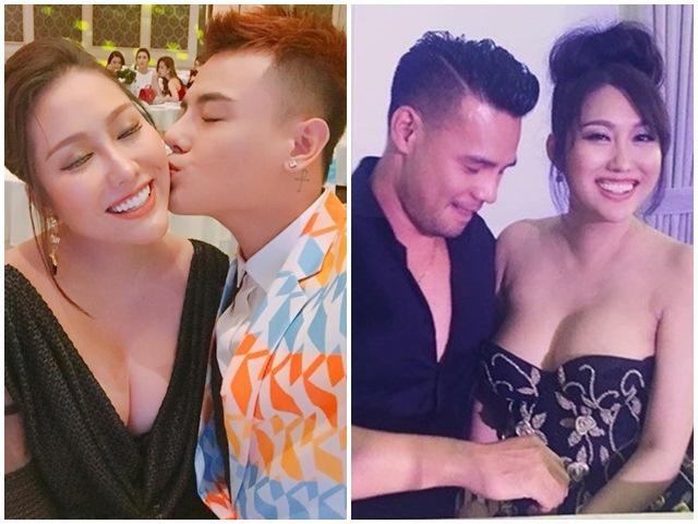 """Phi Thanh Vân khoe vòng 1 nảy nở """"ngả ngốn"""" bên trai trẻ"""