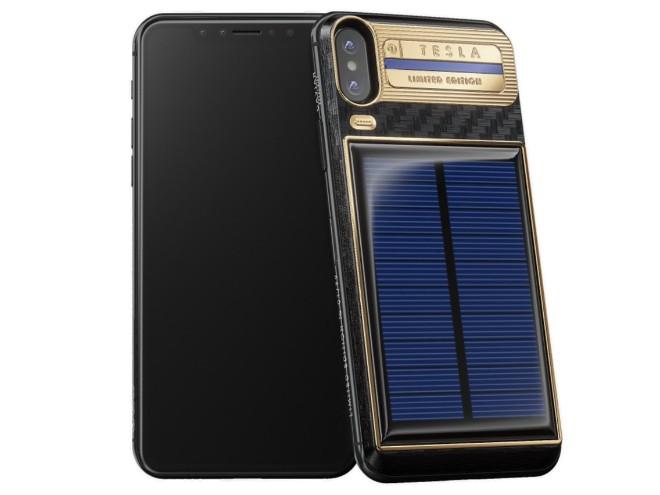 Chiếc iPhone X siêu đắt được trang bị pin năng lượng mặt trời - 1