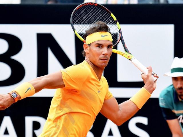 """Chung kết Rome Masters: Nadal quái kiệt, Zverev """"say đòn"""""""