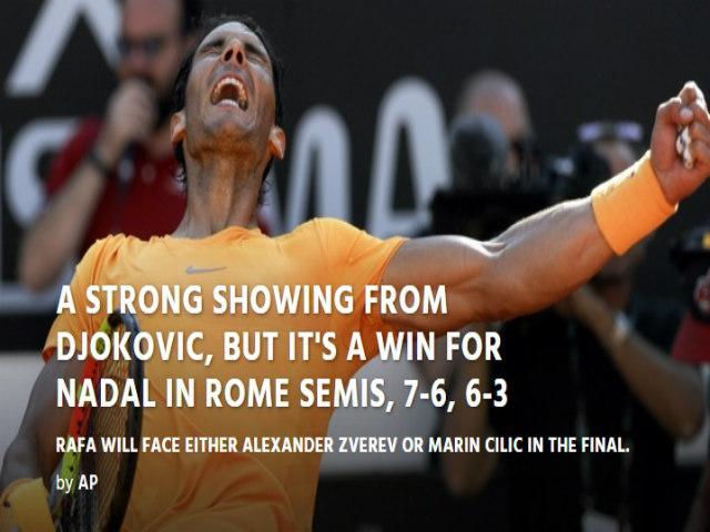 """Nadal phục hận Djokovic: Báo chí ngợi ca """"giấc mơ"""" thành Rome thứ 10"""