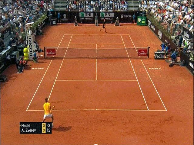 """Clip hot Rome Masters: Zverev """"bẻ lái"""" cao tay, Nadal choáng váng"""