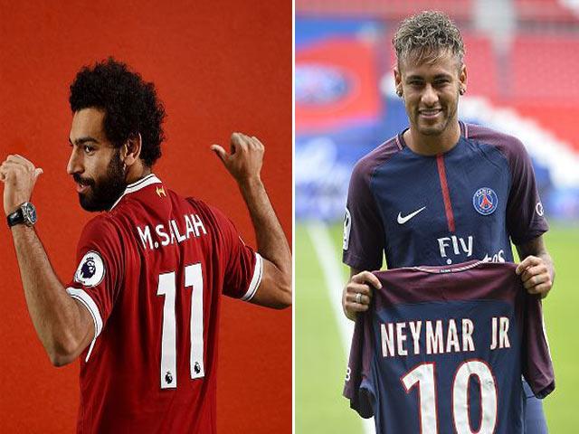 """Salah tân binh siêu hạng, 200 triệu bảng """"đổi vai"""" Neymar đắt nhất thế giới"""