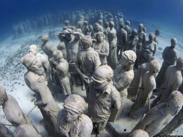Nín thở chiêm ngưỡng bảo tàng điêu khắc dưới lòng biển sâu