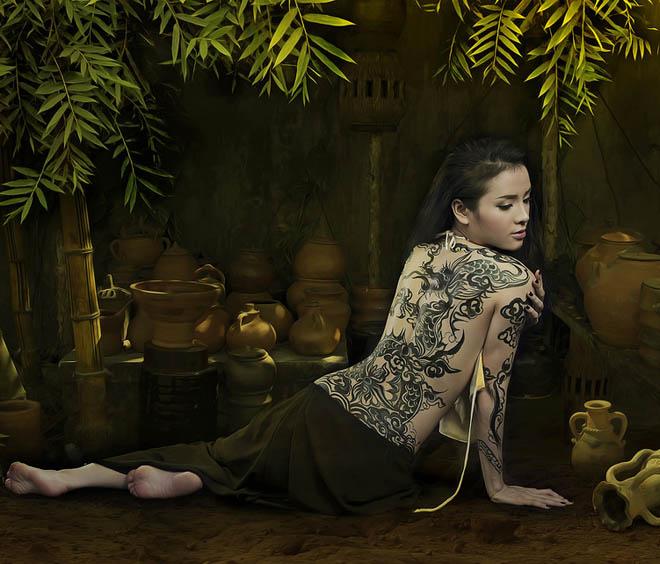 Tránh nguy cơ bị sàm sỡ khi làm mẫu vẽ cơ thể, Phương Trinh Jolie yêu cầu đặc biệt - 1