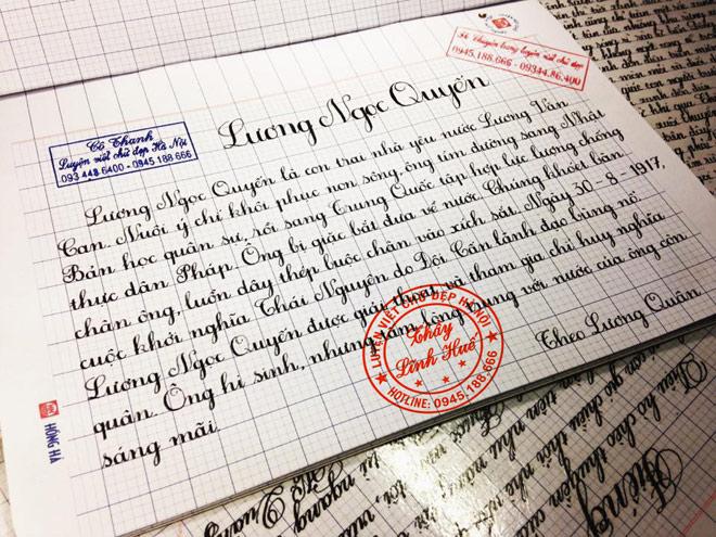 Lớp luyện viết chữ đẹp và rèn viết nhanh giữa lòng Hà Nội - 1