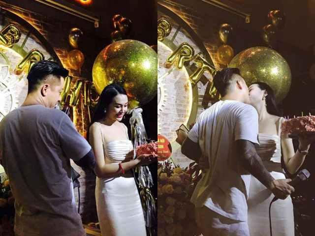 Tuấn Hưng tổ chức tiệc, hôn vợ đắm đuối trong ngày sinh nhật